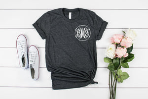 small monogram unisex shirt - Hot Mess Mom Designs