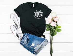small monogram unisex shirt