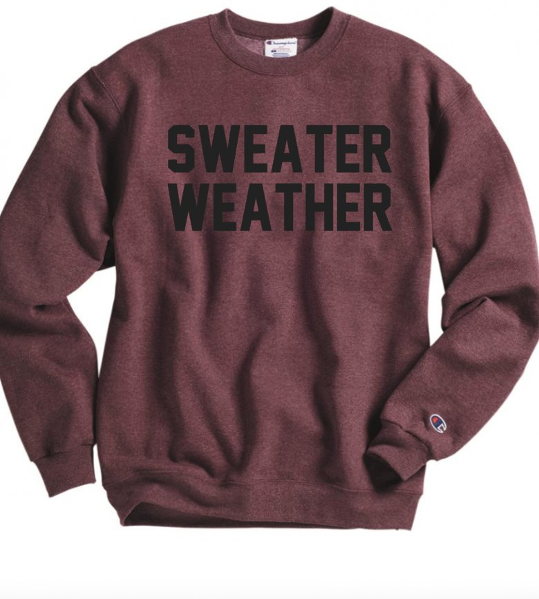Sweater Weather Sweatshirt - Hot Mess Mom Designs