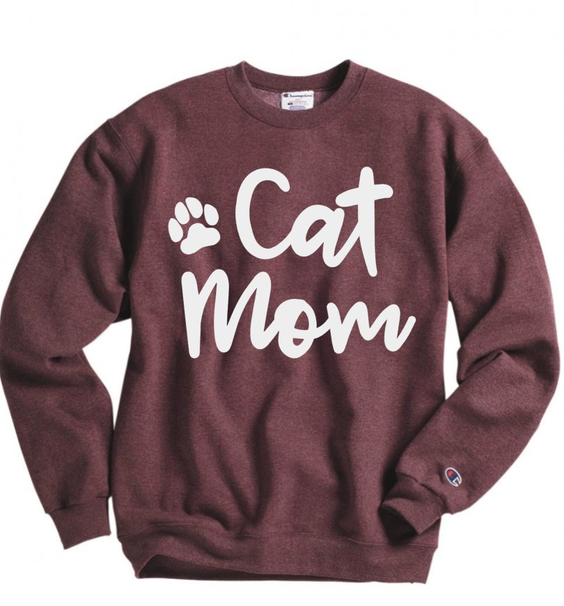 Cat mom sweatshirts