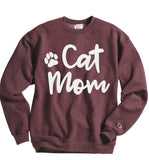 Cat mom sweatshirts - Hot Mess Mom Designs