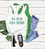 0% Irish, 100% Drunk Tank Top - Hot Mess Mom Designs
