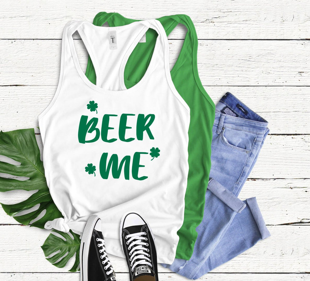 Beer Me Tank Top - Hot Mess Mom Designs