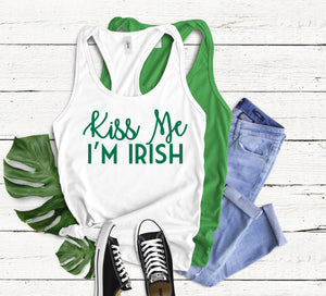 Kiss Me I'm Irish Tank Top - Hot Mess Mom Designs