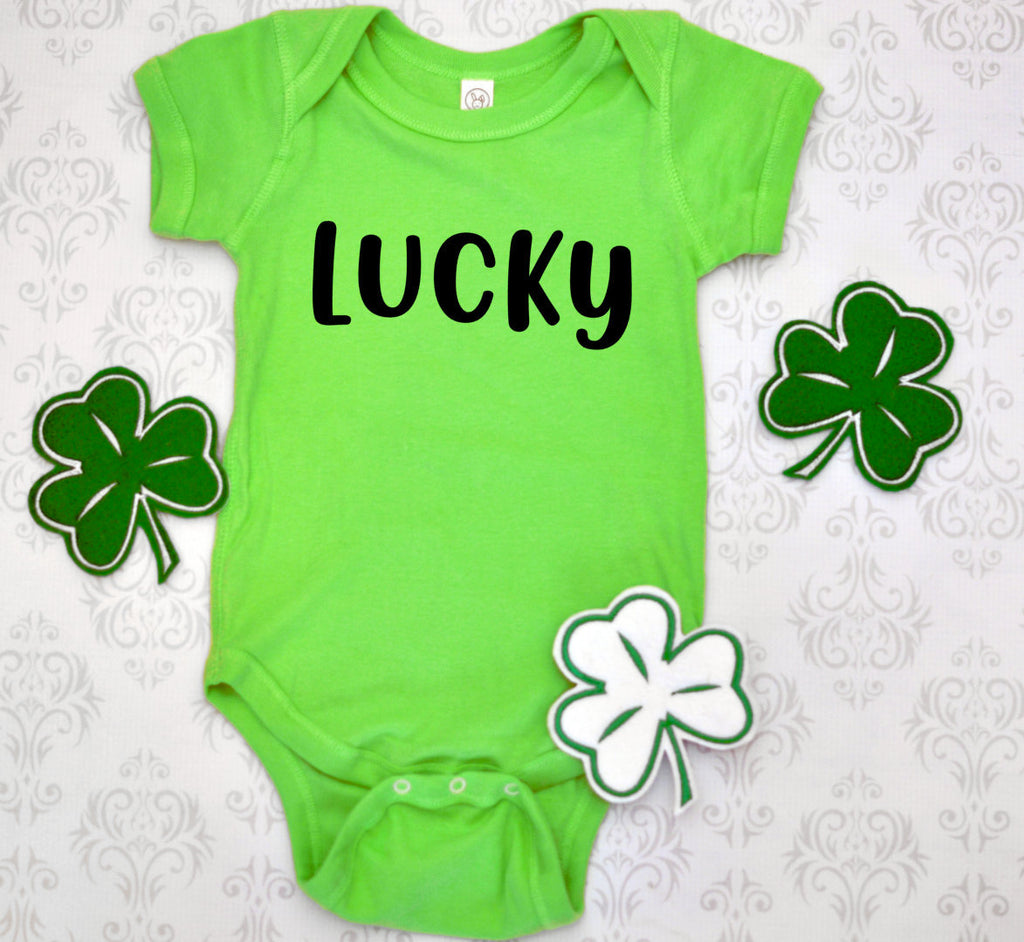 Lucky kids st patricks day shirt - Hot Mess Mom Designs
