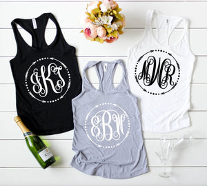 Monogram tank top - Hot Mess Mom Designs