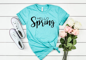 Hello Spring shirt - Hot Mess Mom Designs