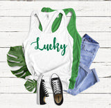 lucky tank top - Hot Mess Mom Designs