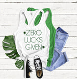 Zero Lucks Given Tank Top - Hot Mess Mom Designs