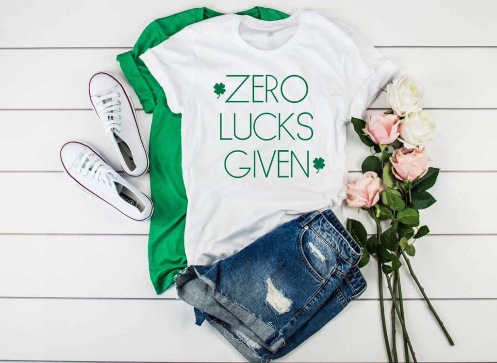 Zero Lucks Given Unisex Shirt - Hot Mess Mom Designs
