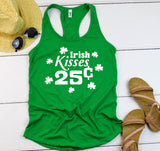 Irish Kisses tank top - Hot Mess Mom Designs