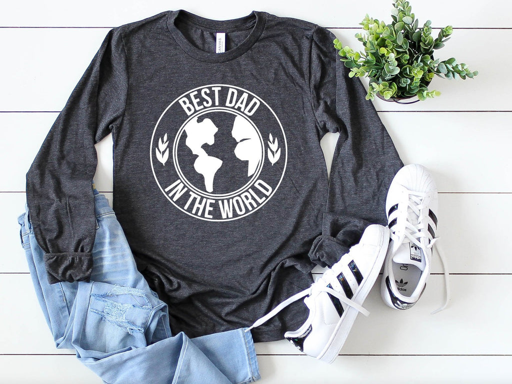 Best Dad In the World Long Sleeve - Hot Mess Mom Designs