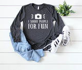 Photographer long sleeve - Hot Mess Mom Designs