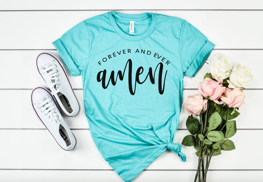 Forever and Ever Amen Unisex shirt - Hot Mess Mom Designs