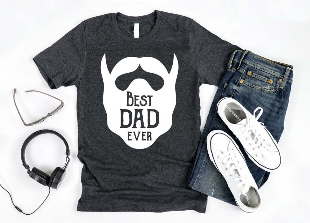 best dad ever bearded shirt - funny shirts for women at Hot Mess Mom Designs