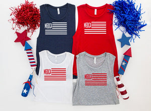 Merica fourth of july tank top - Hot Mess Mom Designs