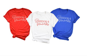 Freedom and Fireworks - funny shirts for women at Hot Mess Mom Designs