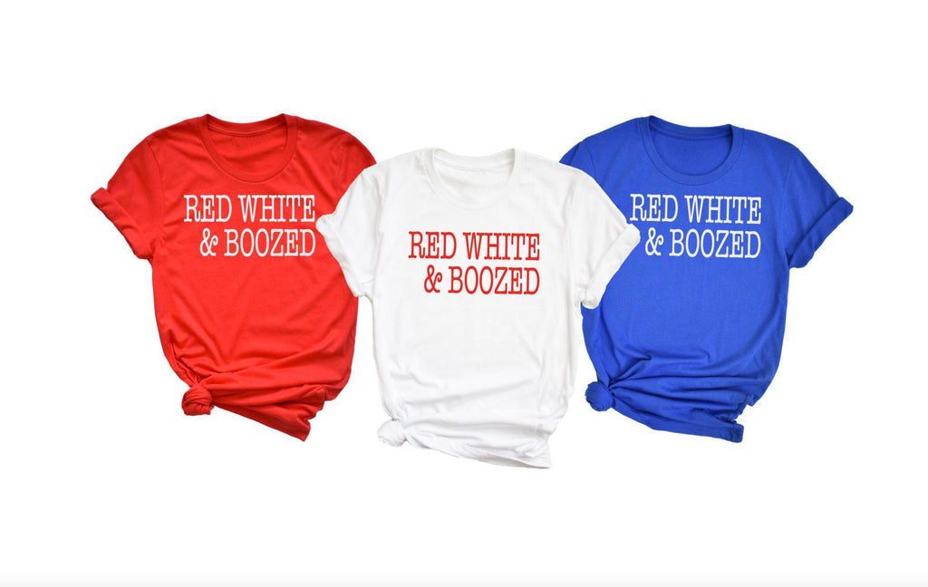 Red White and Boozed Unisex Shirt - Hot Mess Mom Designs