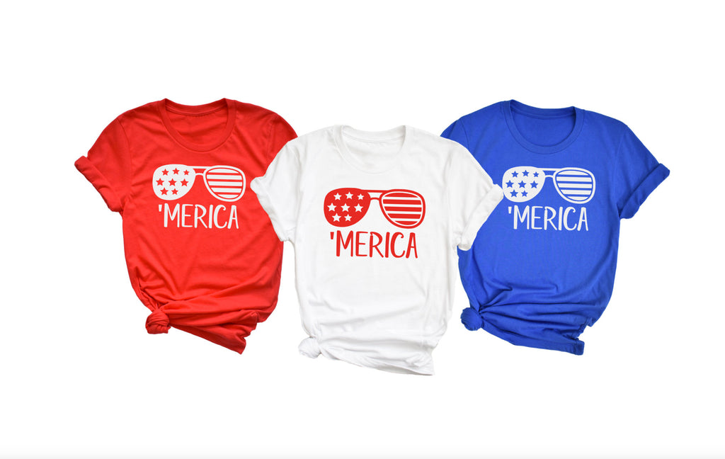 Merica Unisex Shirt - Hot Mess Mom Designs