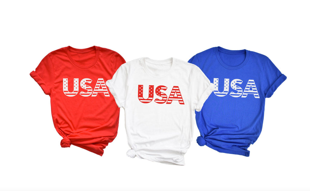 USA Flag Shirt - Hot Mess Mom Designs