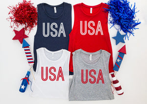 USA fourth of july tank top - Hot Mess Mom Designs