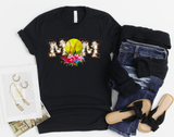 Floral Softball Mom Shirt - Hot Mess Mom Designs