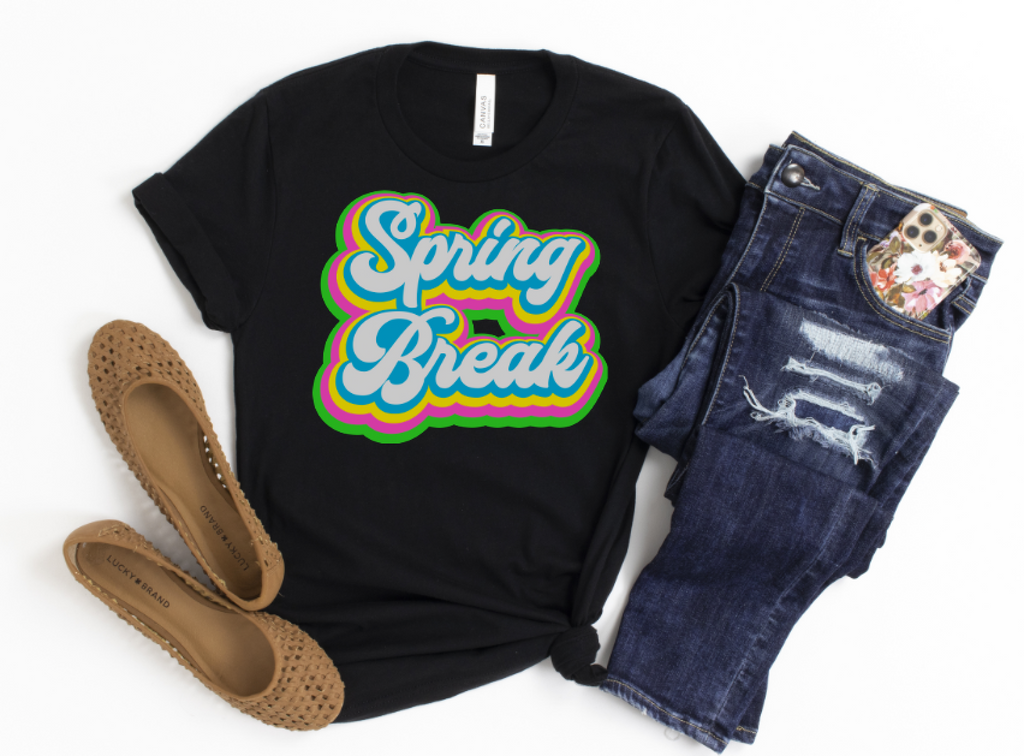 Spring Break Retro tshirt - Hot Mess Mom Designs