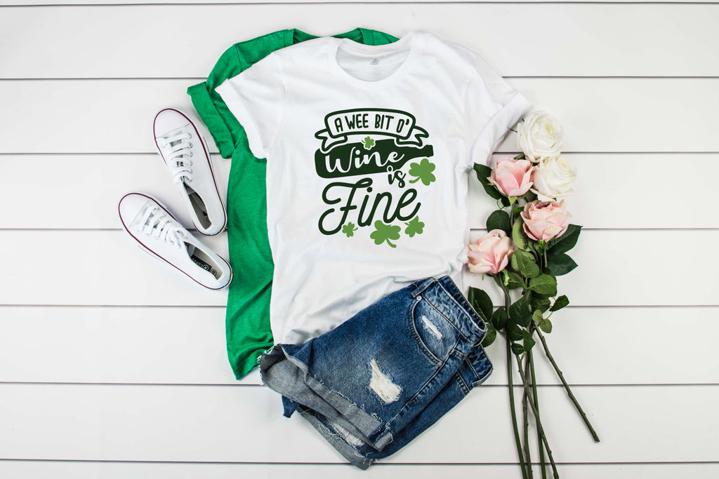 A Wee Bit O Wine is Fine Shirt - Hot Mess Mom Designs