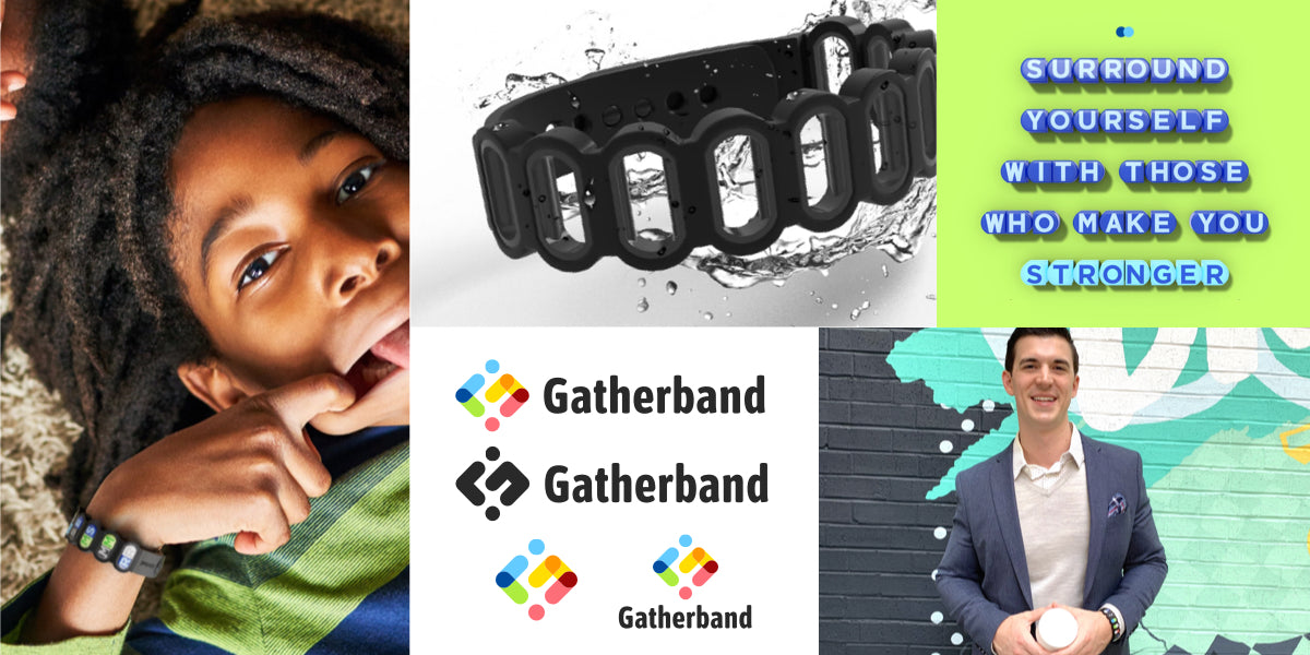 Gatherband press kit product shots lifestyle images logos brand assets and founder photos