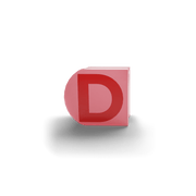 gatherband extra initials salmon red letter d