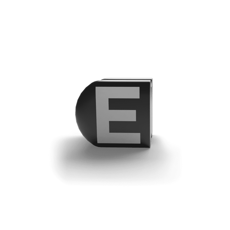 gatherband extra initials black letter e