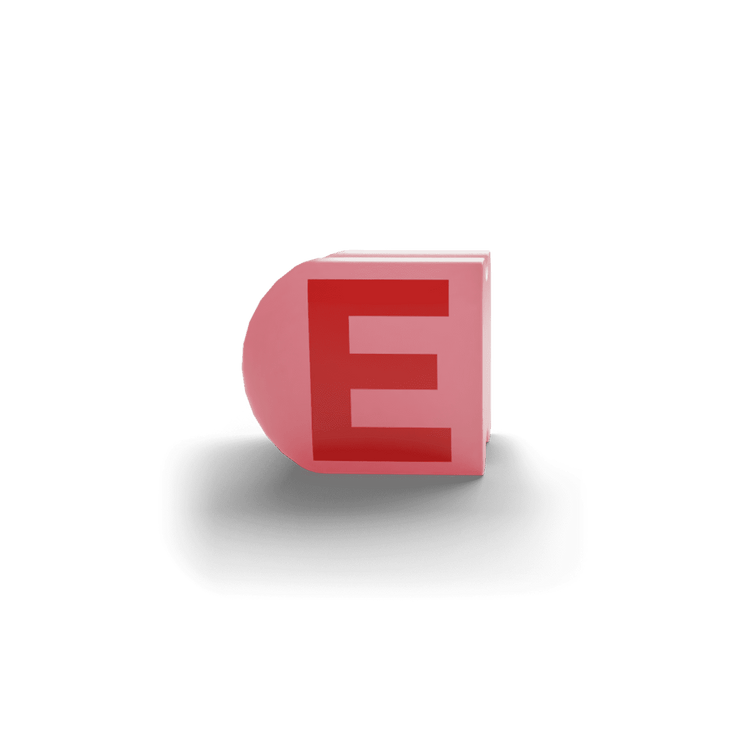 gatherband extra initials salmon red letter e