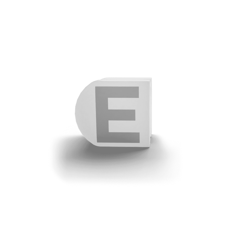 gatherband extra initials white letter e
