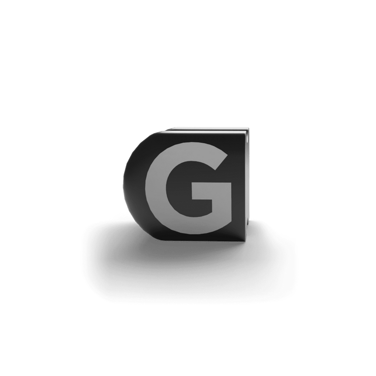 gatherband extra initials black letter g