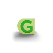 gatherband extra initials chameleon green letter g