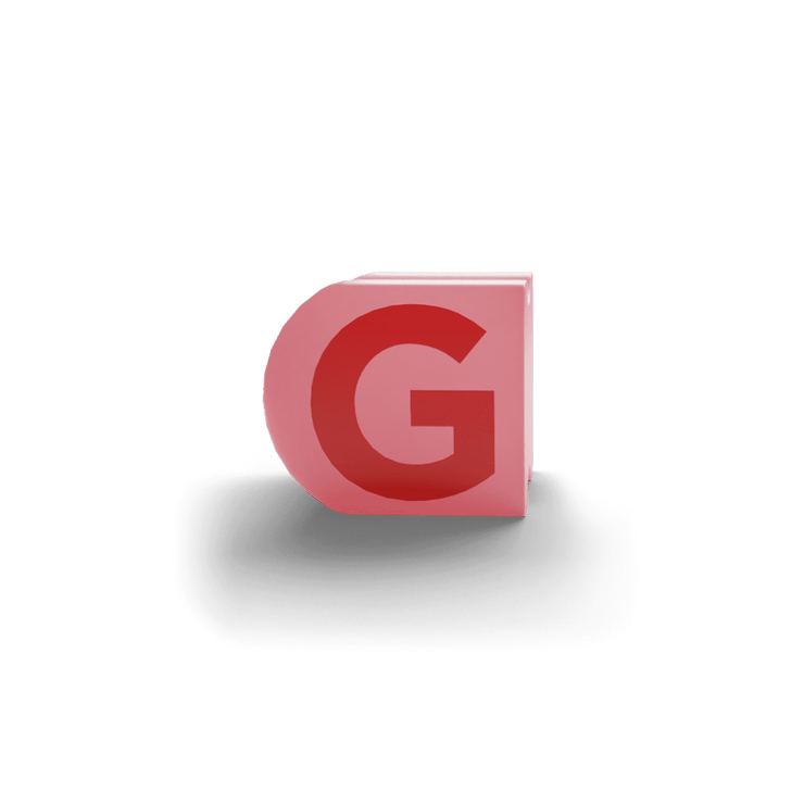 gatherband extra initials salmon red letter g
