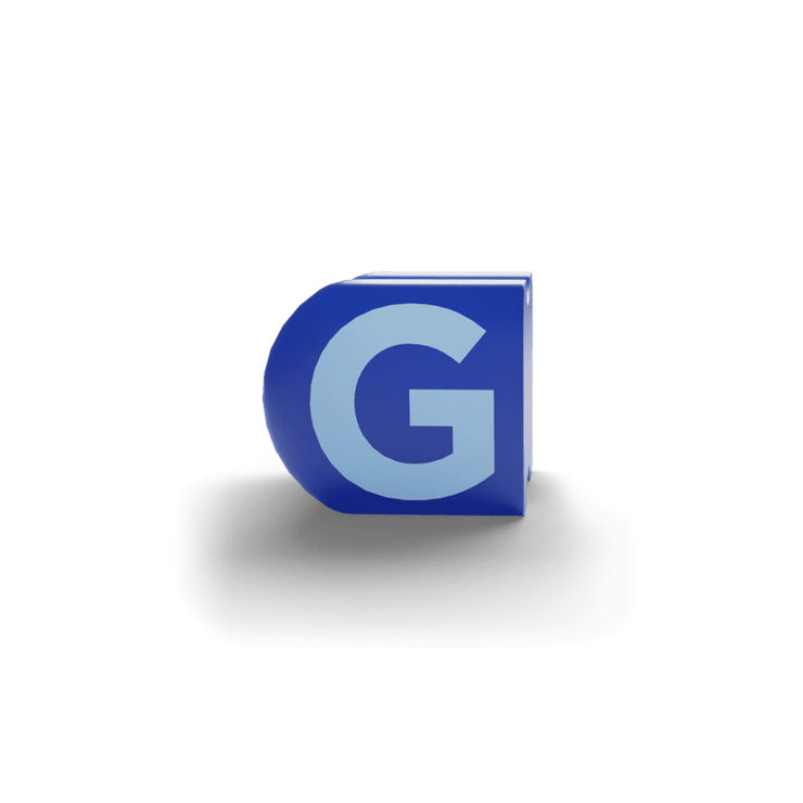 gatherband extra initials sea dark blue letter g