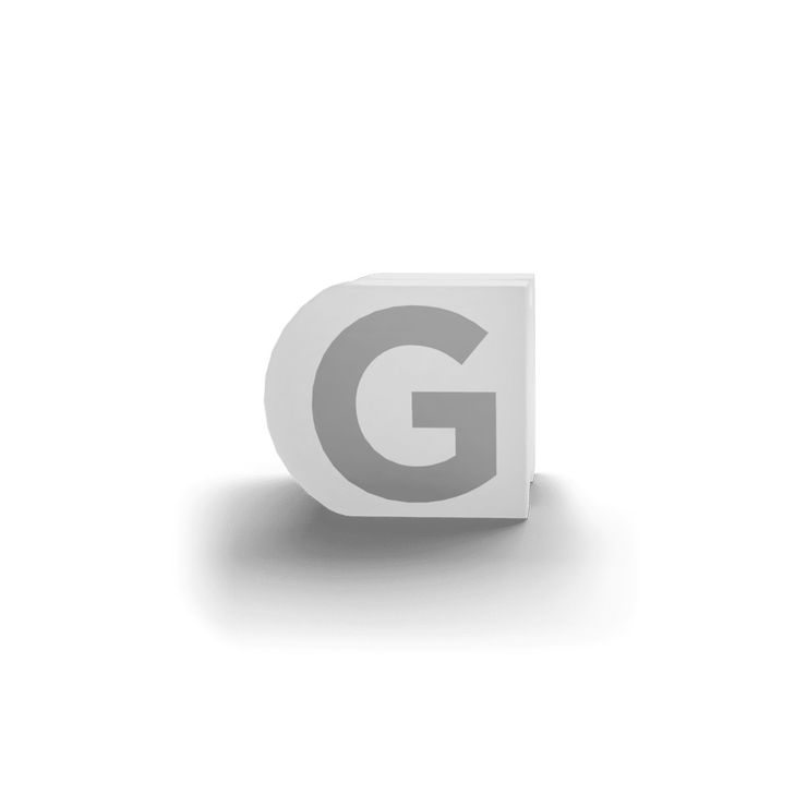 gatherband extra initials white letter g