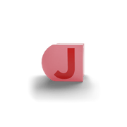 gatherband extra initials salmon red letter j