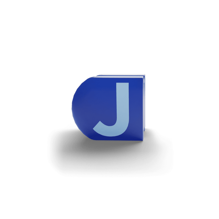 gatherband extra initials sea dark blue letter j
