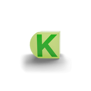 gatherband extra initials chameleon light green letter k