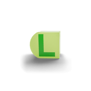 gatherband extra initials chameleon light green letter l