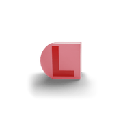 gatherband extra initials salmon red letter l
