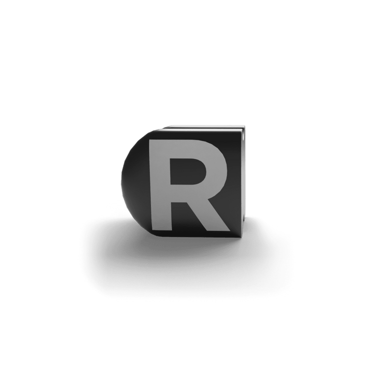 gatherband extra initials black letter r