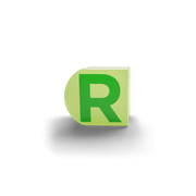 gatherband extra initials chameleon light green letter r