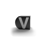 gatherband extra initials black letter v