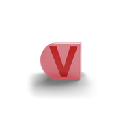 gatherband extra initials salmon red letter v