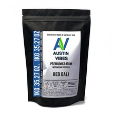 Load image into Gallery viewer, Austin Vibes 1kg (35.27oz) Red Bali Kratom Powder