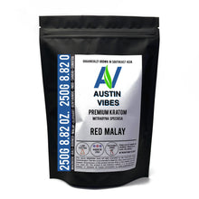 Load image into Gallery viewer, Austin Vibes 250g (8.82oz) Red Malay Kratom Powder