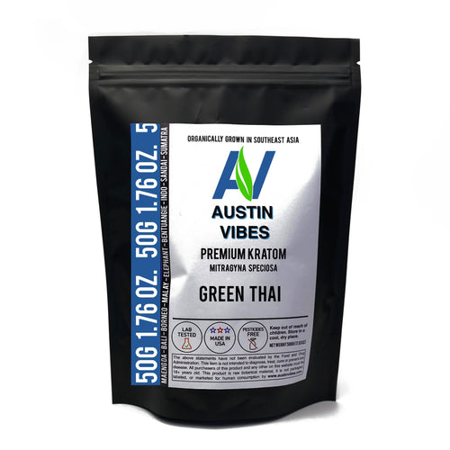 Austin Vibes 50g (1.76oz) Green Thai Kratom Powder